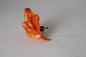 Autumn Leaf Ring by Laughing-Sky