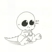 Baby dino by LeaTheWolf