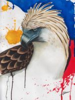Philippine Eagle (watercolor) by Abrem008