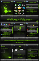 Walkman Splatter - K800 by moron12