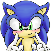 Sonic front view by shadowhatesomochao