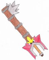 Entei Keyblade by Amaquieria