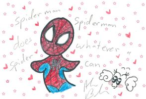 Spiderman Chibi  by Kittychan2005