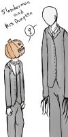 Slender and Mrs. Pumpkin by ArantxaCosplayer