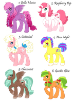 Pony Adoptables 4.0 by Amenoo