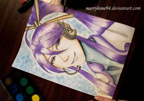 Gakupo Kamui watercolor by Marryhime94