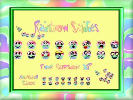 Rainbow Smilies For Trails by TNBrat