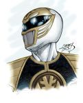 The White Ranger 2013 COLORED by LucasAckerman