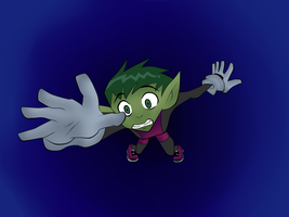 Beast Boy Falling by BeastGreen