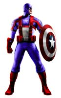 Captain America of the Portal Earth Avengers by stick-man-11