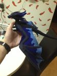 Navy Felt dragon by Dragondays