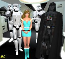Kimberly Captured And Hypnotized By Darth Vader by The-Mind-Controller