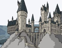 Hogwarts Tablet Drawing by seajayjoonyo