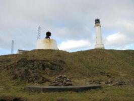 Places 689 Lighthouse and Foghorn by Dreamcatcher-stock