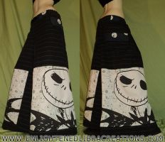 Glow in the Dark Jack Skellington Phat Pants by RedheadThePirate