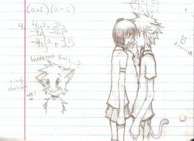 Sketches in math class by eeveelover893