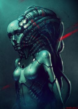 robotic girl - finished by CGSoufiane
