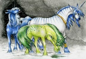 First Snow by FeatherGale