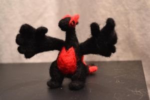 Needle Felted Lugia 2 by feltieflaffy