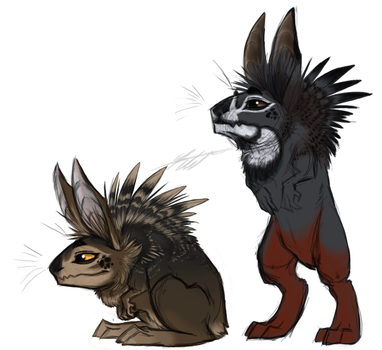 +Little Prehistoric Rabbits+ by KasaraWolf