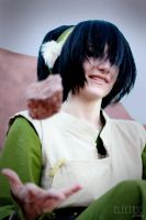 Toph Smirk by WhatTheFuu