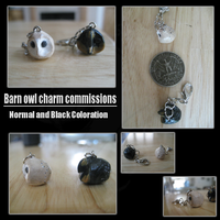 Barn Owl Charm Commissions by NstealthL