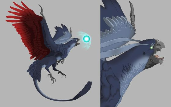 Guardian Force Redesign: Bahamut by DELIRIO88