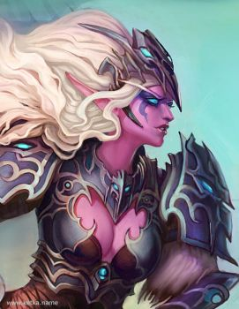 night elf - close up by Ketka