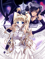 angel and devil by albinotereturns
