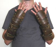 Carapace Bracers with buckle straps by swanboy