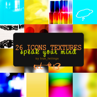 26 icon textures by anamariaRya