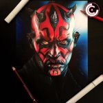 Darth maul by clarke-art