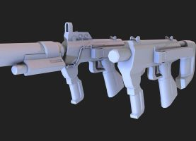 Halo 3 ODST-Normal SMG by martynball