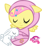 Newborn Fluttershy Asleep by atnezau