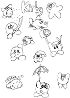Old Kirby doodles by Azza144