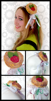 StrawberryKiwi Pastry Headband by Scorchie-Critter