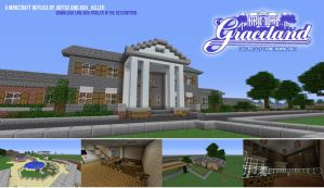 [Minecraft] Graceland - Elvis Presley's home by McTaylis