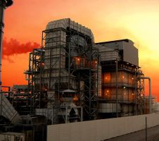 Wilmington Oil Refineries 2 by stevecliff