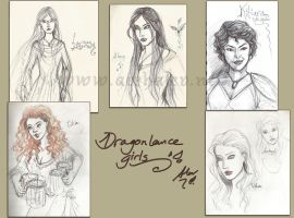 Dragonlance girls by Aerhalev