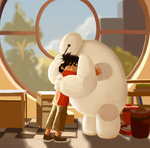 hiro and baymax by X3carlyX3