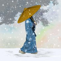 Person in Snow by cheungygirl