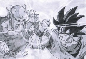 Goku vs Piccolo by koomaar91