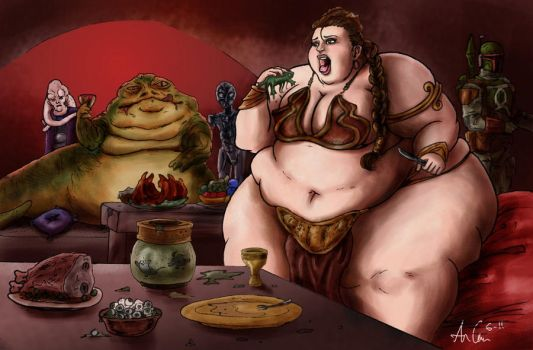 The Fattening of Leia by Ray-Norr