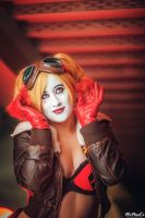 Just a little curious - Bombshell Harley Quinn by St3phBot