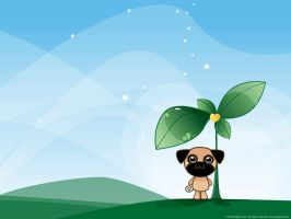 Earth Day Pug by lafhaha