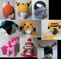 For Sale: Misc Plush and Hats by PurgatorianHeir