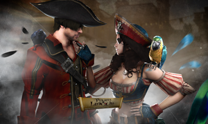 #Pirates JILLEON Love by DemonLeon3D