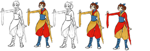 Pema Age 16- Lines and Colors WIP by AyeAvast