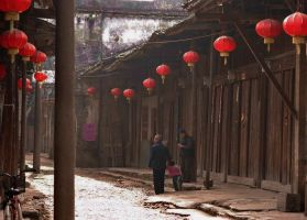 Morning walk in old DaXu. by Iancaus2001