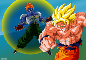 Goku VS Super C13 by Niiii-Link